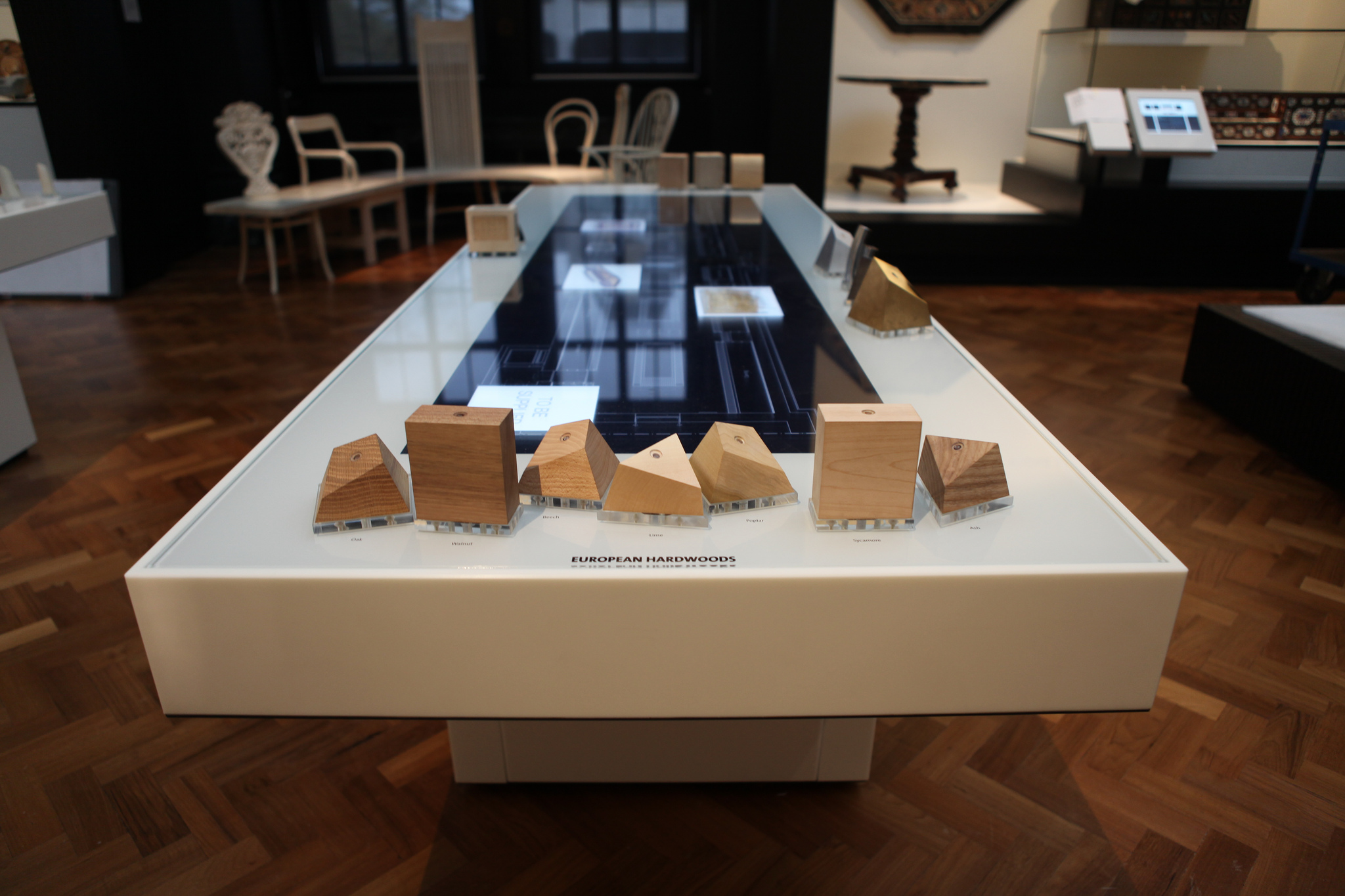 V&A Furniture Gallery Interactive Tables